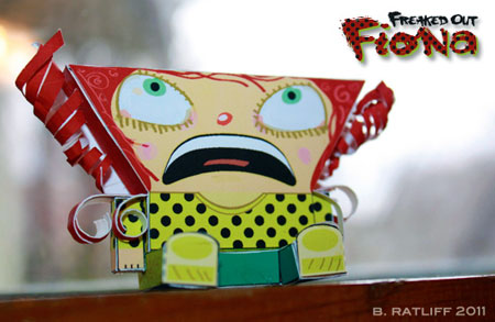 Freaked Out Fiona Paper Toy