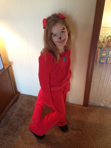 thursday february 14 2013 - Clifford The Big Red Dog Halloween Costume