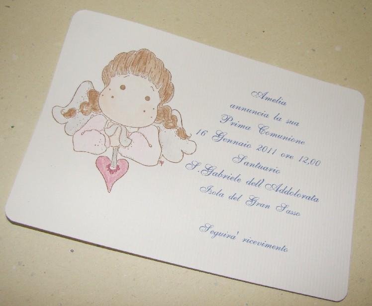 Célèbre artare cerimonia: INVITI PER COMUNIONI O CRESIME GX73