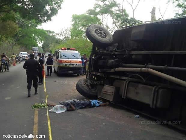 Un fallecido y varios heridos en accidente de transito en Coatepeque