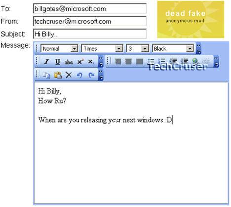 fake email
