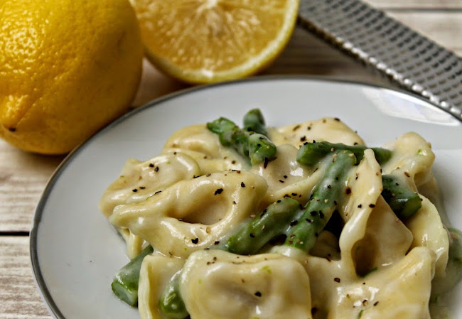 Tortellini with Asparagus in a Light Creamy Lemon Sauce Recipe #BackToBalance