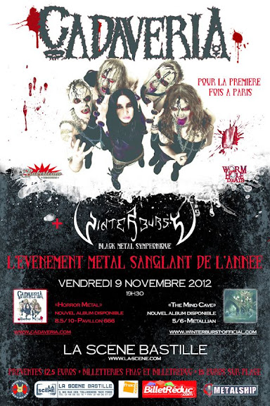 Cadaveria / Winterburst @ Le Klub, Paris 09/11/2012
