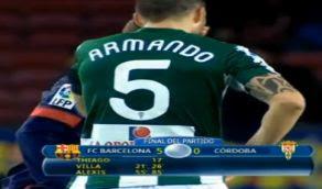 Goles Barcelona Cordoba [5-0] Copa rey Video Villa Alexis