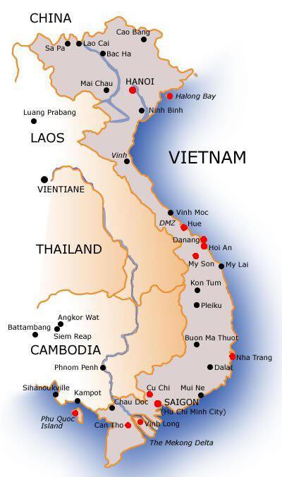 Vietnam Terkep