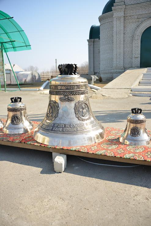 Церковные колокола для храма поселка Добринка Липецкой области.