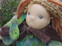 "12"" Elf  Waldorf Doll with his Lizard Friend"