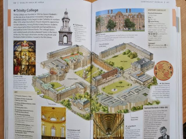 map of Trinity College, from DK Eyewitness Travel Ireland