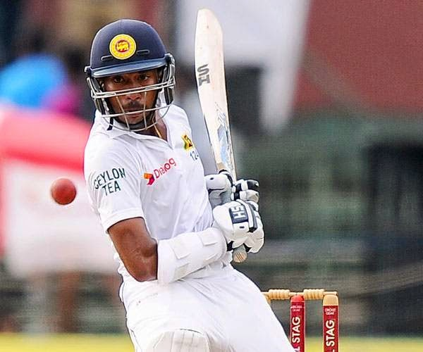 Sri Lankan batsman Kithuruwan Vithanage avoids a bouncer from South African bowler Dale Steyn during the opening day of the second Test match between Sri Lanka and South Africa at the Sinhalese Sports Club (SSC) Ground in Colombo on July 24, 2014.