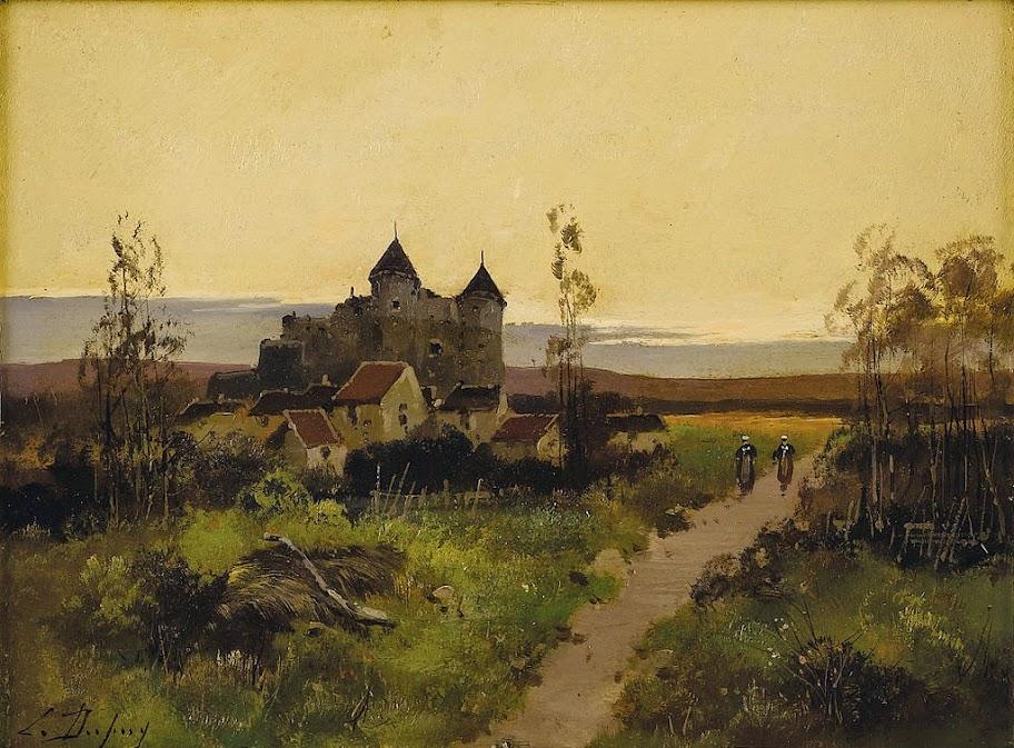 Eugène Galien-Laloue - Chateau au Bond d'un Chemin