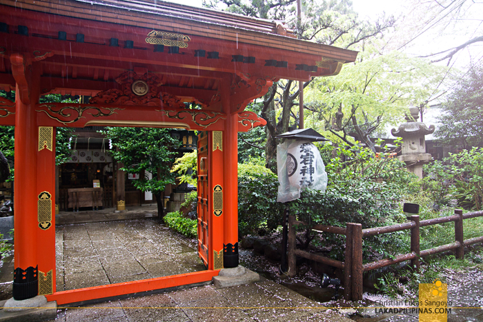 Rainy Day at Atago Shrine in Tokyo