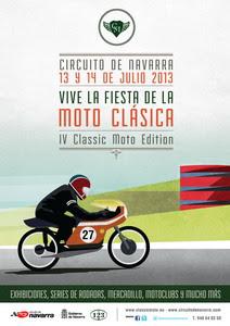 Cartel IV Edición Fiesta de La Moto Clásica de Navarra 2013