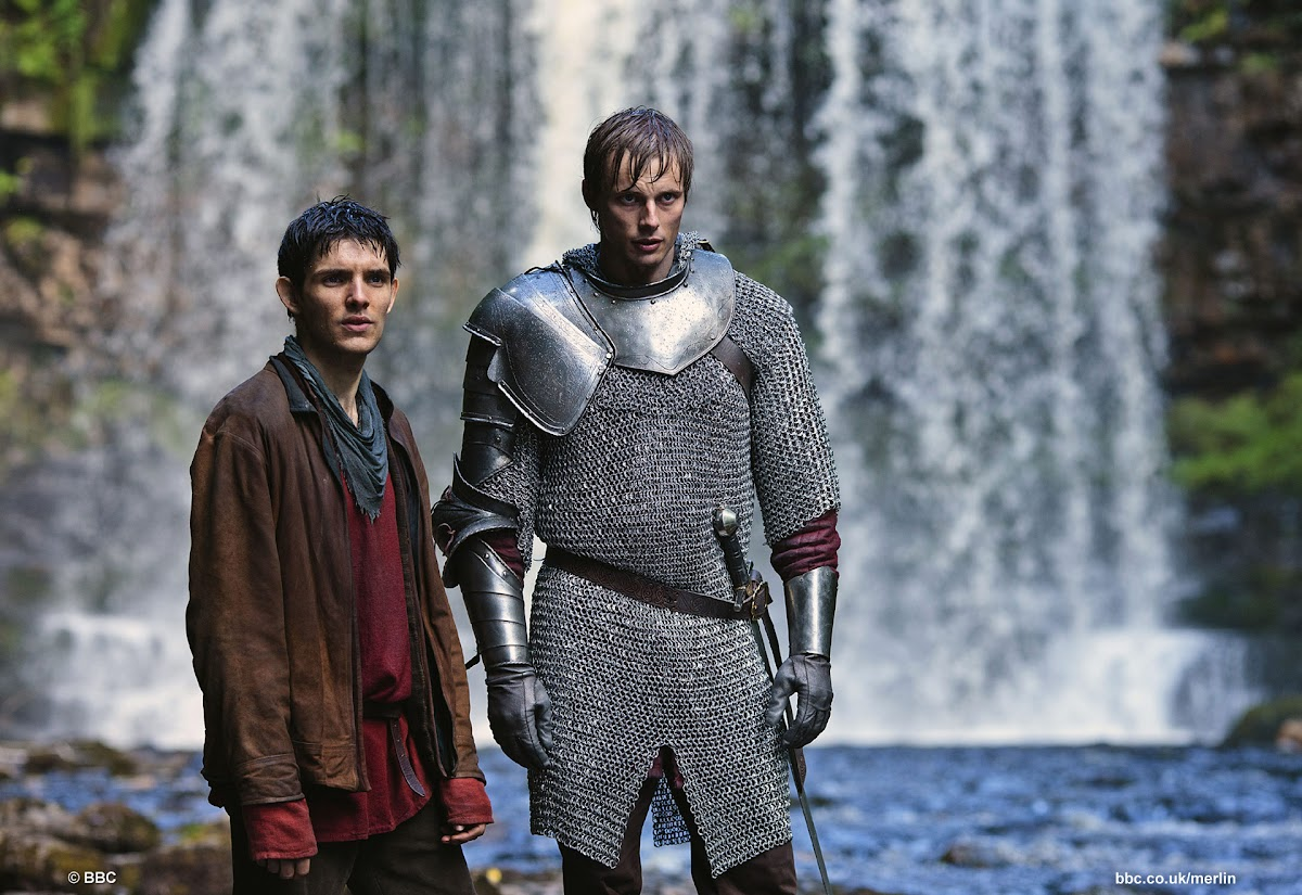 Aithusa: Colin Morgan is Merlin and Bradley James is Arthur