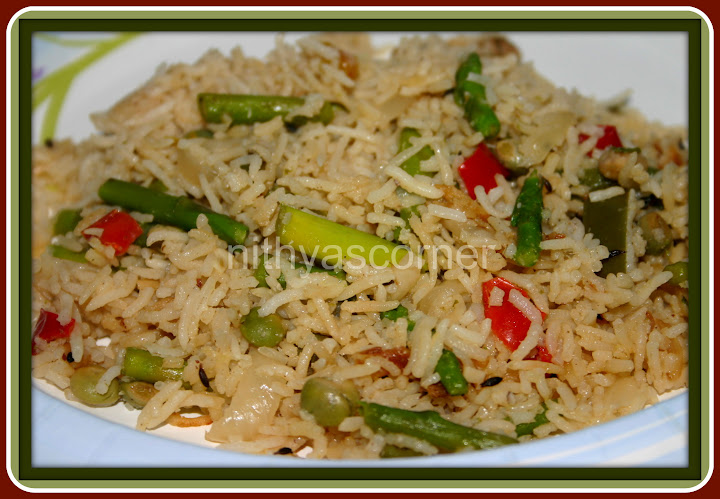 Asparagus and Peas Pulao