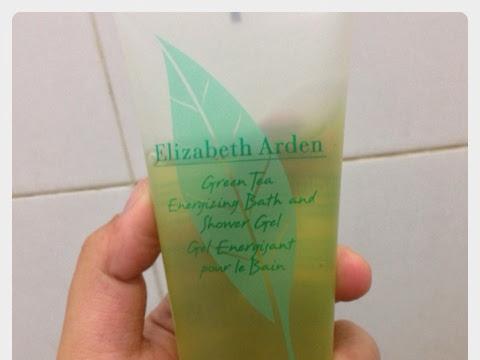 "[Review] Green tea energizing bath and shower gel from Elizabeth Arden ""Summer Bag"""
