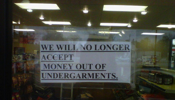 No Undergarments Money, Please