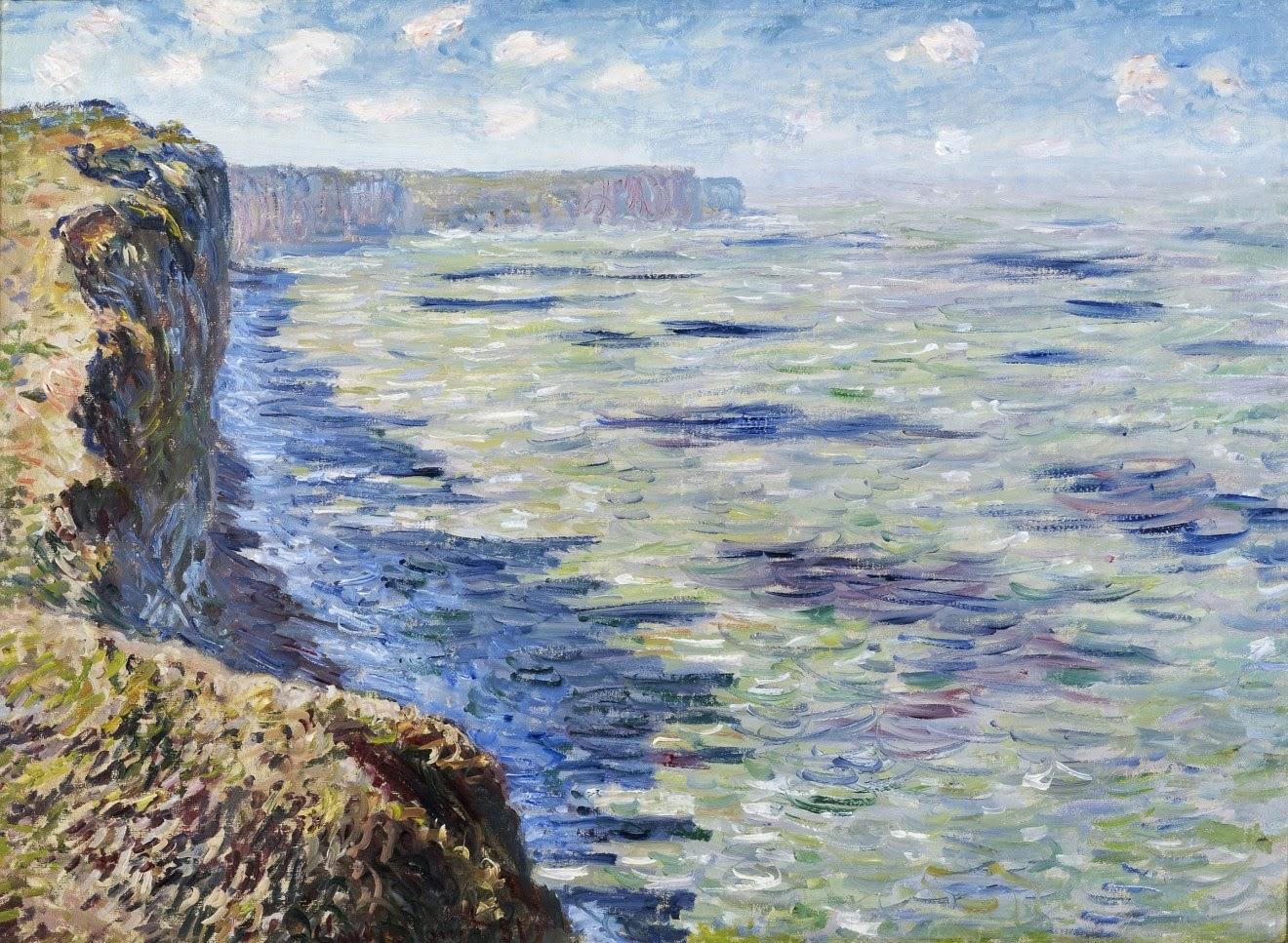 モネlog: フェカンの海景画(白亜の断崖) Ⅰ