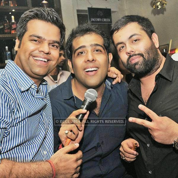 Mukul Khurana, Arjun Dawar and Kanishk Tuteja during a Sufi evening at 1 Oak Cafe & Bar in the capital.