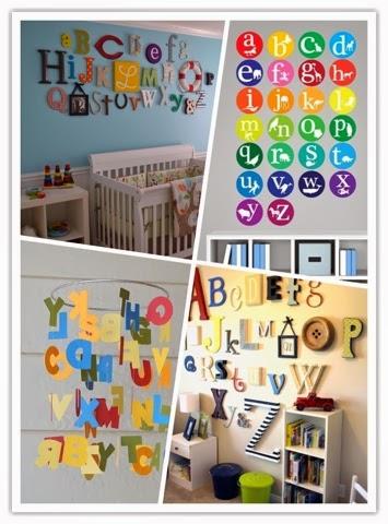 Alfabeto na parede
