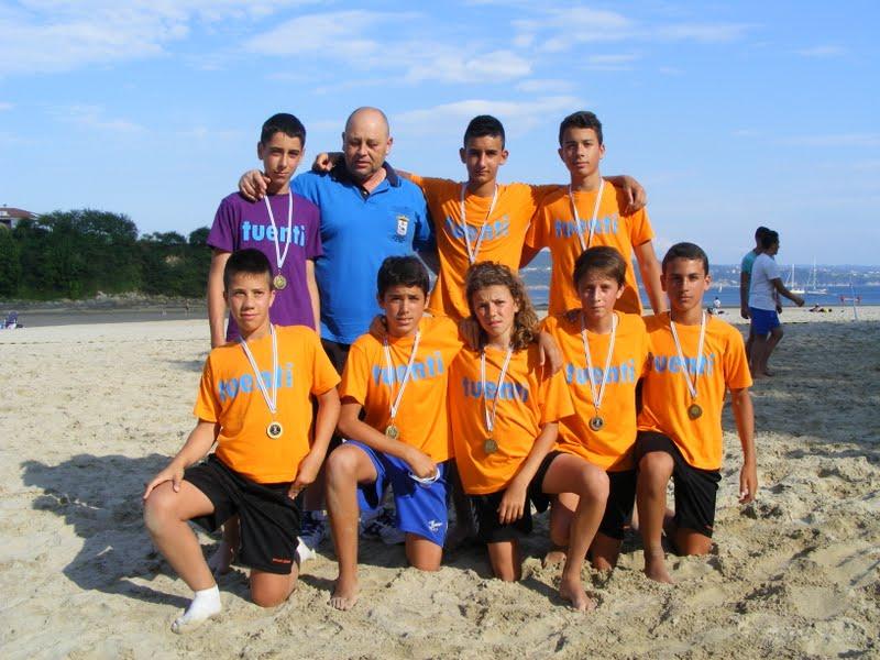 Torneo Fútbol Playa Ares 2012. Naranja Mecánica Campeón Infantil.