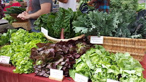 Some of the offerings at the Hollywood Farmers market on Saturdays - salads