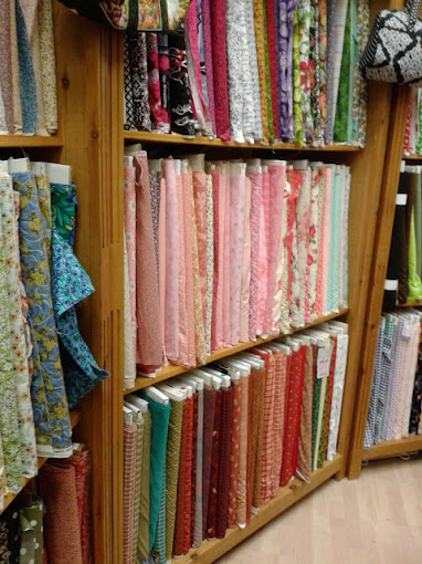 Fabric Shopping for Pininspired Craft