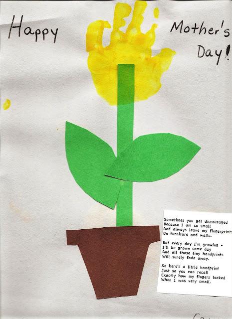 big ideas 4 little people hand print flower and poem. Black Bedroom Furniture Sets. Home Design Ideas