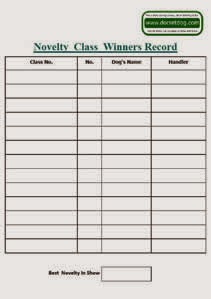 Blank Novelty Class Winners Record