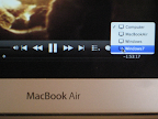 Select Aerodrom AirPlay in  iTunes video player