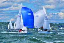 J/24 one-design sailboats- sailing in Maine