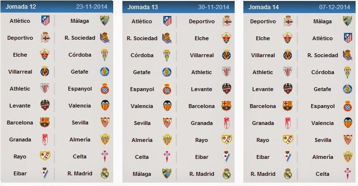 جدول مباريات الدوري الإسباني الممتاز