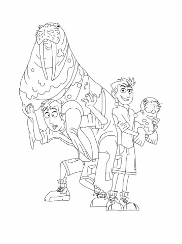 Wild Kratts Walrus Coloring Page