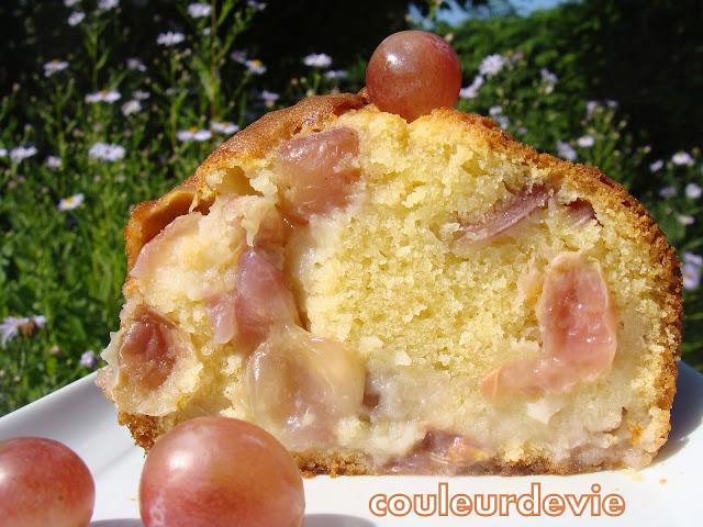cake moelleux aux raisins frais | couleurdevie