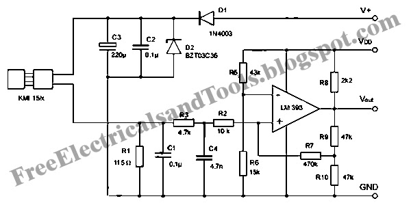 wiring panel  signal conditioning circuit for kmi 15 x rotation speed sensor