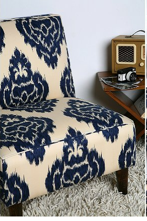 Etonnant Urban Outfitters Indigo Ikat Slipper Chair
