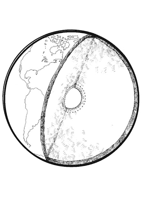 Earth's core coloring pages