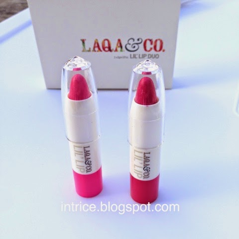 Laqa and Co. Lil Lip Duo Crayons in Lambchop Pinkman- photo credit: intrice.blogspot.com
