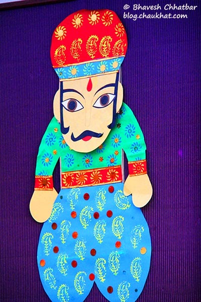 Kala Ghoda - Paper craft of an Indian man