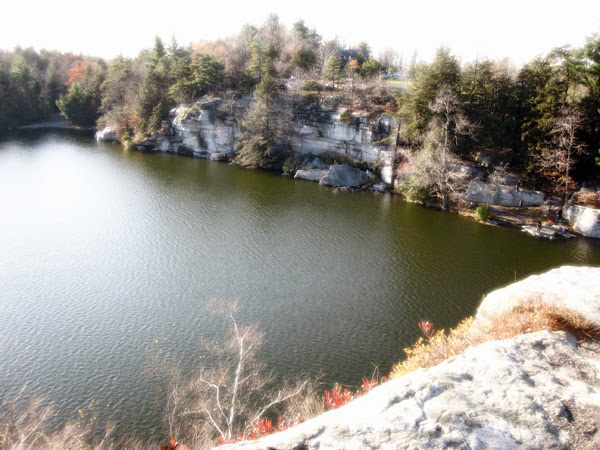 Overview of Lake Minnewaska
