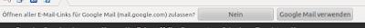 Google Mail als Default Mailer