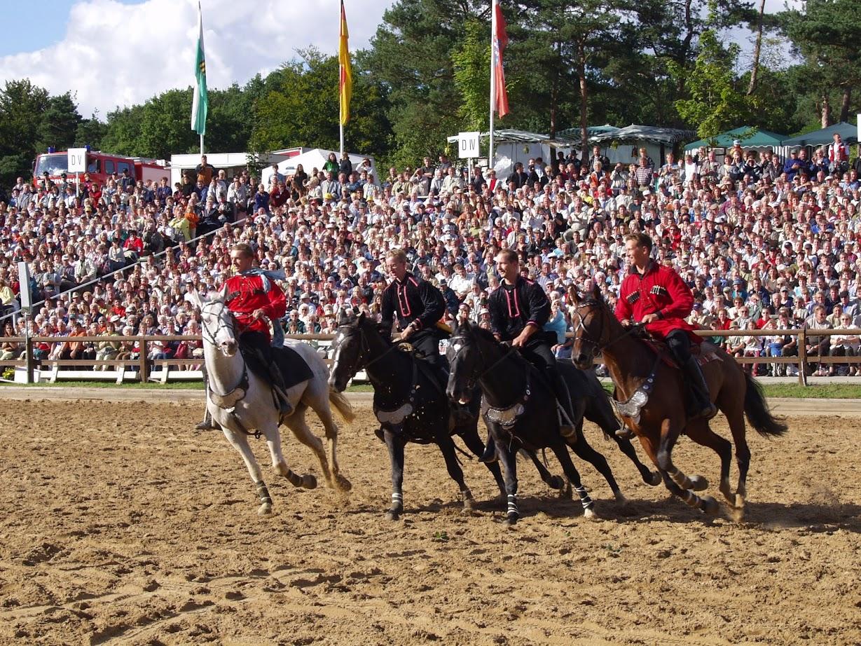 Kosaken Reiter bei der Hengstparade Moritzburg bei Dresden