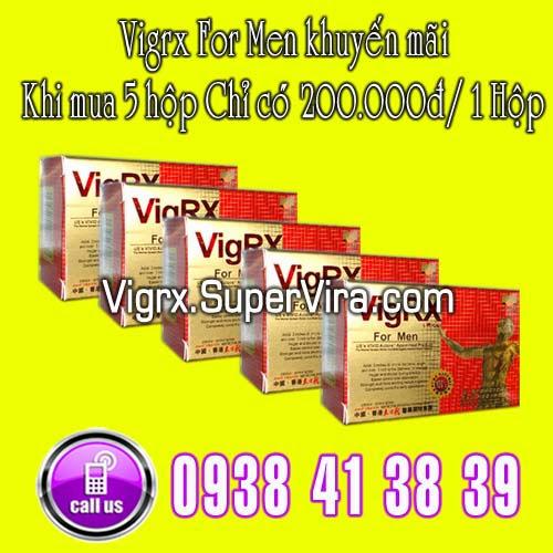 Vigrx For Men khuyến mãi đặc biệt Khi mua cùng lúc 5 hộp Vigrx For Men với giá chỉ còn  200.000đ/ 1 Hộp