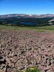 Bouldery route below Eccentric Peak