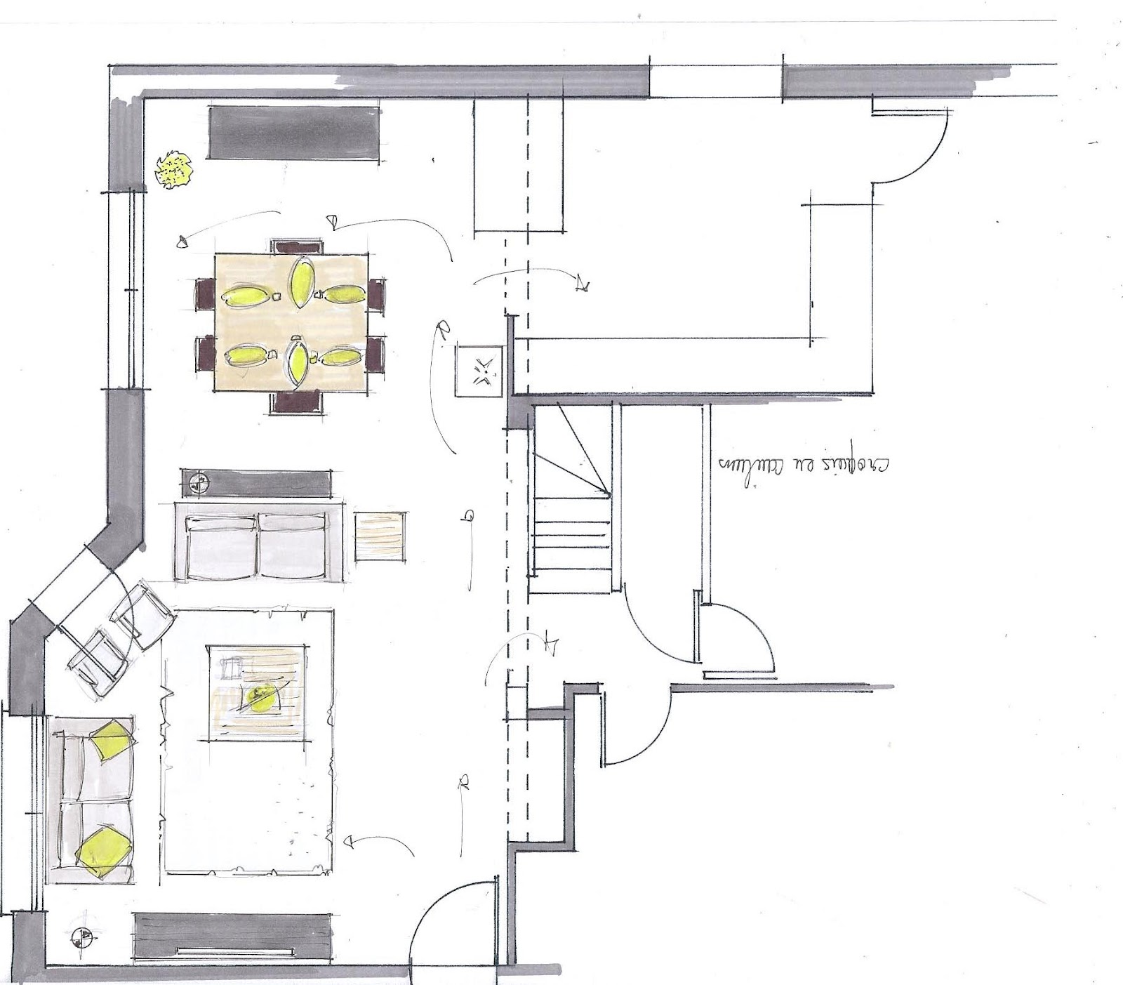 Dessins croquis d coratrice vannes corinne le dorze for Architecte d interieur france 5