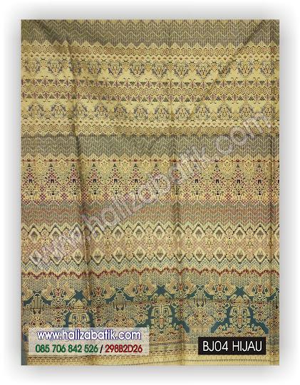 Busana Batik Terbaru, Macam Batik, Gambar Batik Indonesia, BJ04 HIJAU