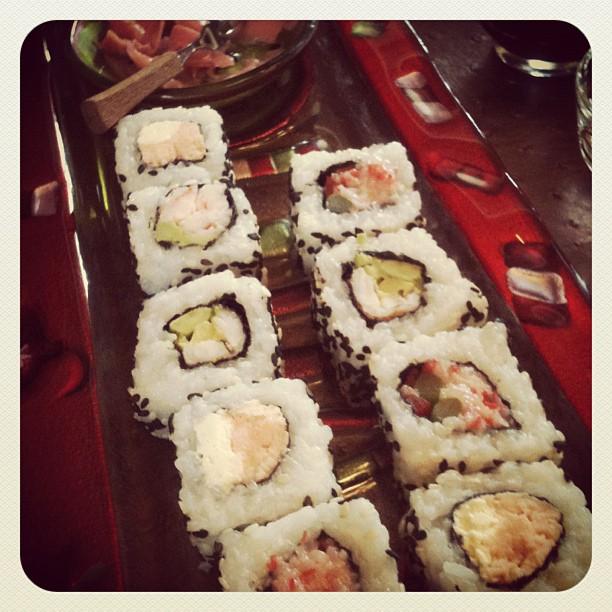 I tried sushi!