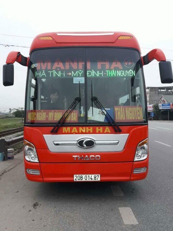 Xe Mạnh Hà từ Thái Nguyên đi Hà Tĩnh
