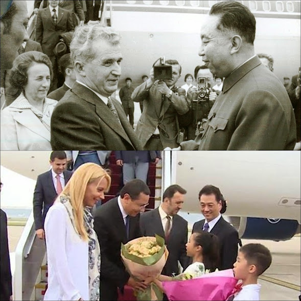 NIcolae si Elena Ceausescu, in China. Victor Ponta si Daciana Sarbu, in china
