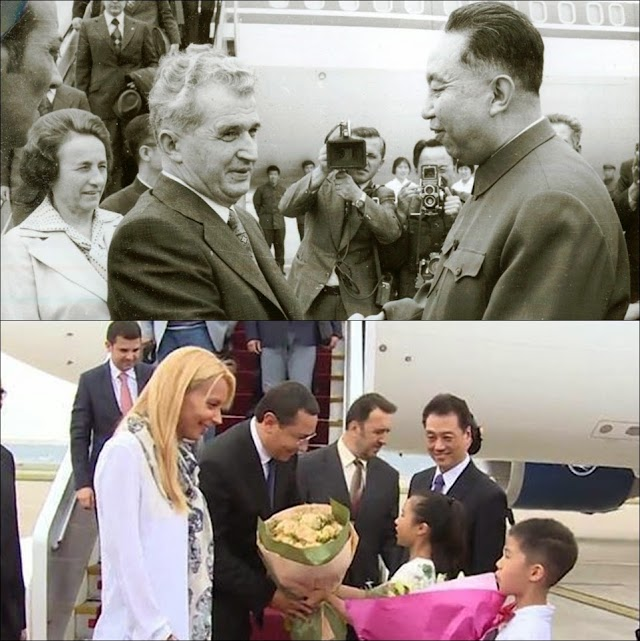 Tovarășii Victor și Daciana Ponta și Nicolae și Elena Ceaușescu