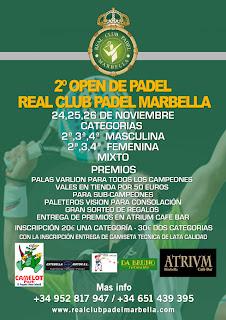 2º Open de Padel Real Club Padel Marbella